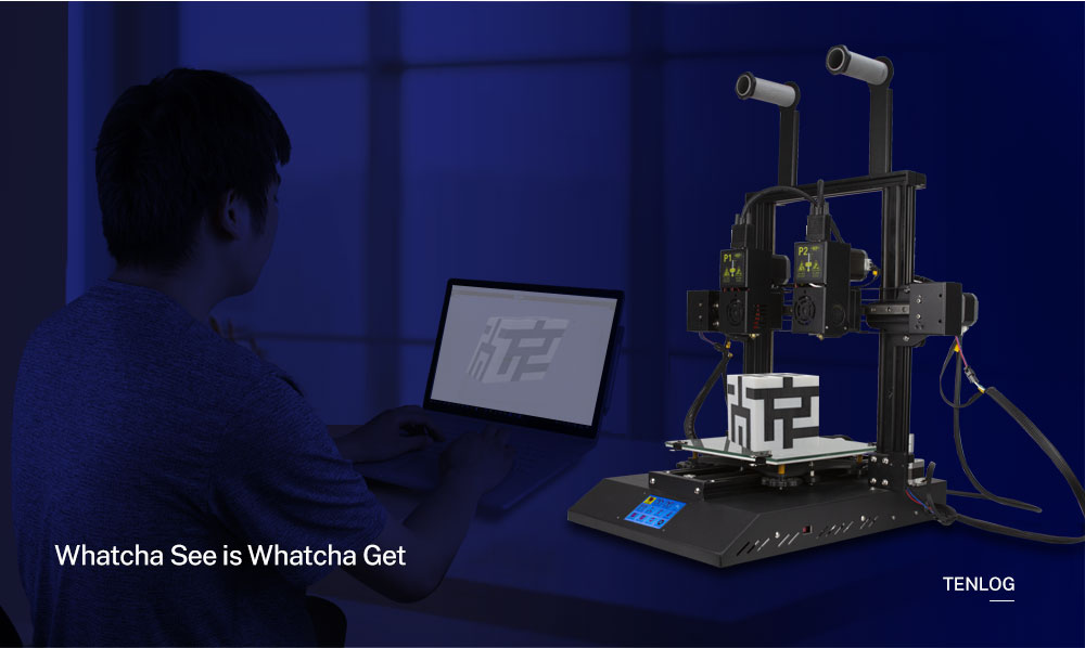 TENLOG Hands 2 DMP 3D Printer Whatcha See Is Whatcha Get