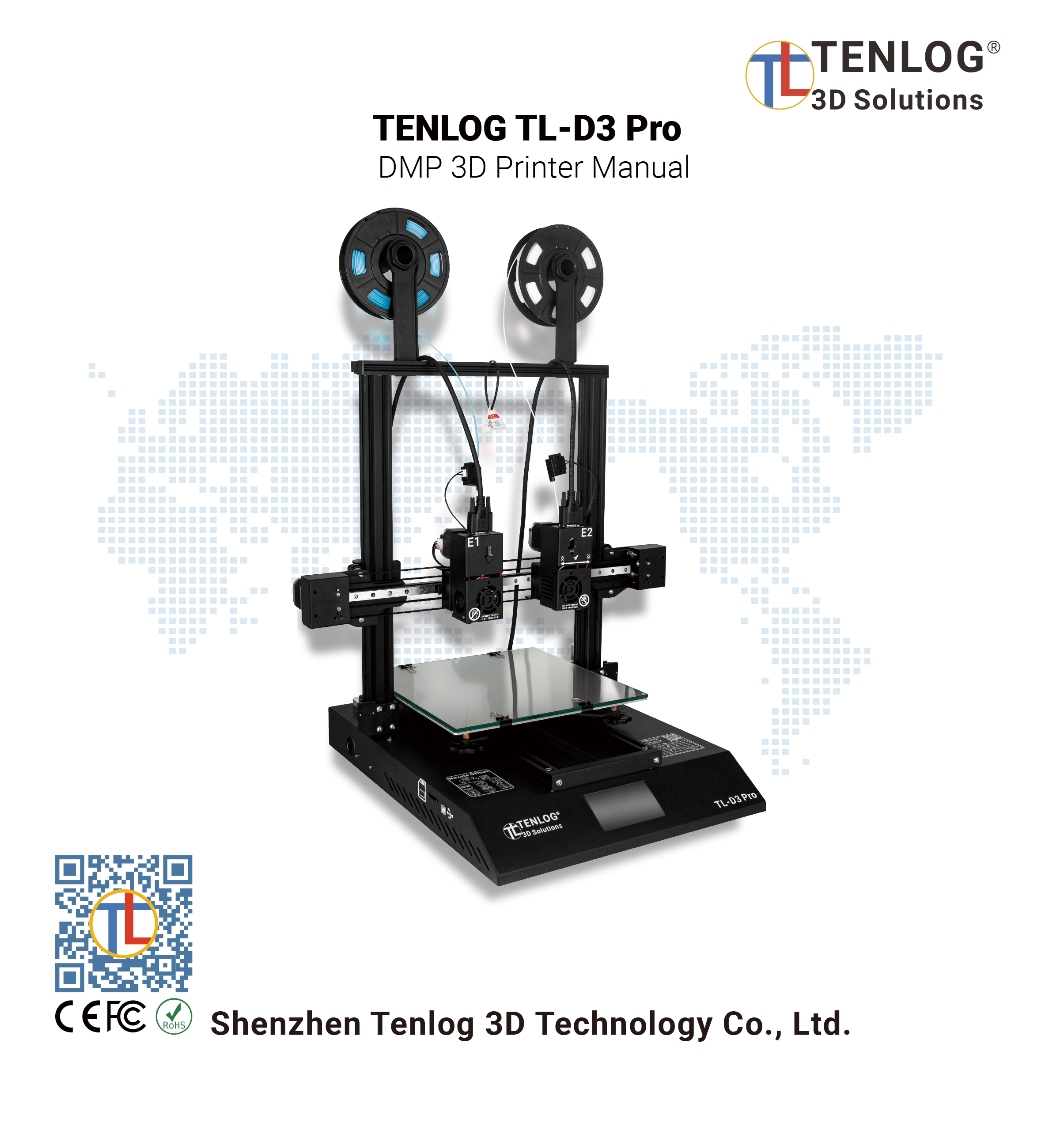Tenlog TL-D3 Pro DMP 3D Printer Manual 1